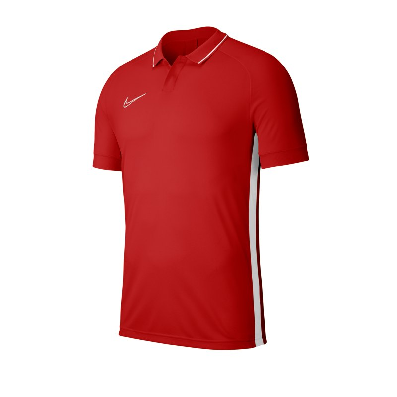 Nike Academy 19 Poloshirt Rot Weiss F657 - rot