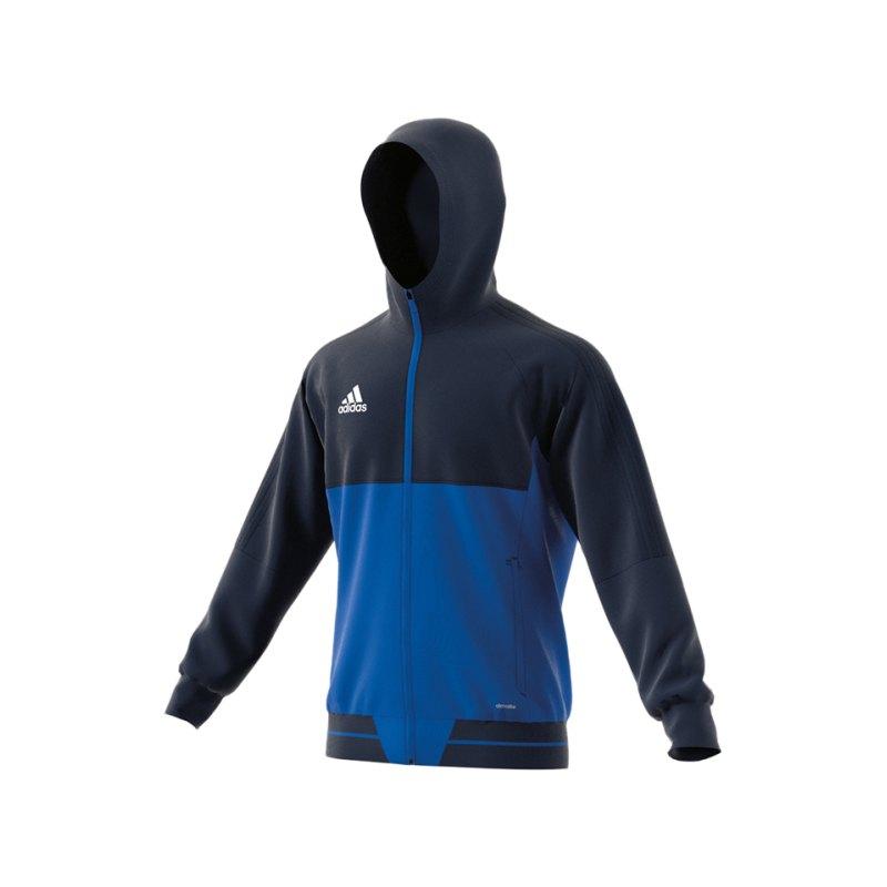 adidas Tiro 17 Präsentationsjacke Blau - blau