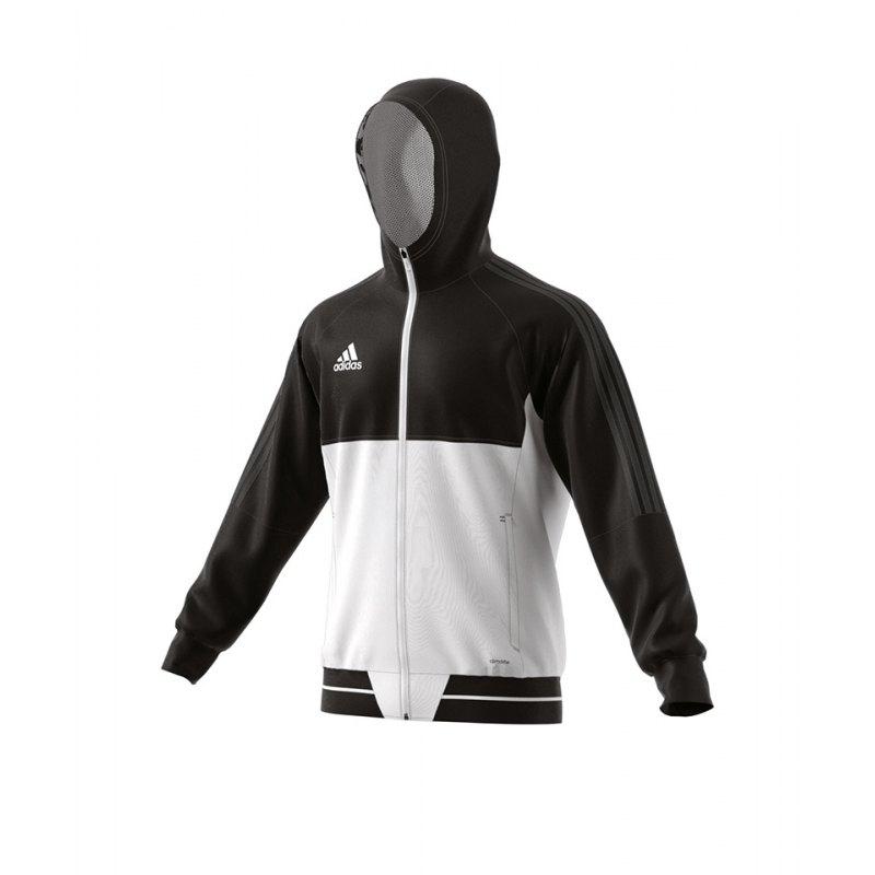 adidas Tiro 17 Präsentationsjacke Schwarz Weiss - schwarz