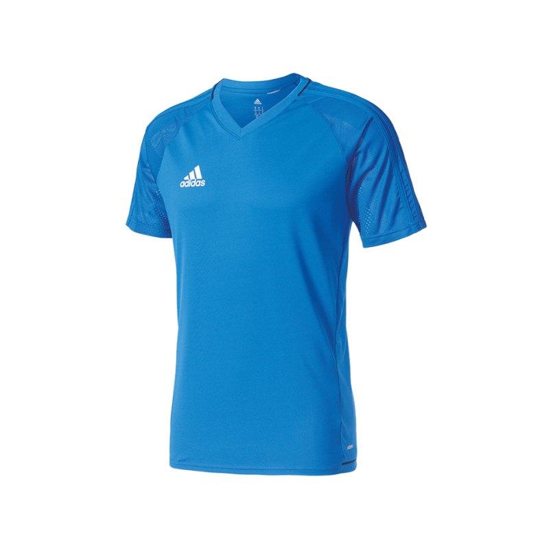 adidas Trainingsshirt Tiro 17 Blau Weiss - blau