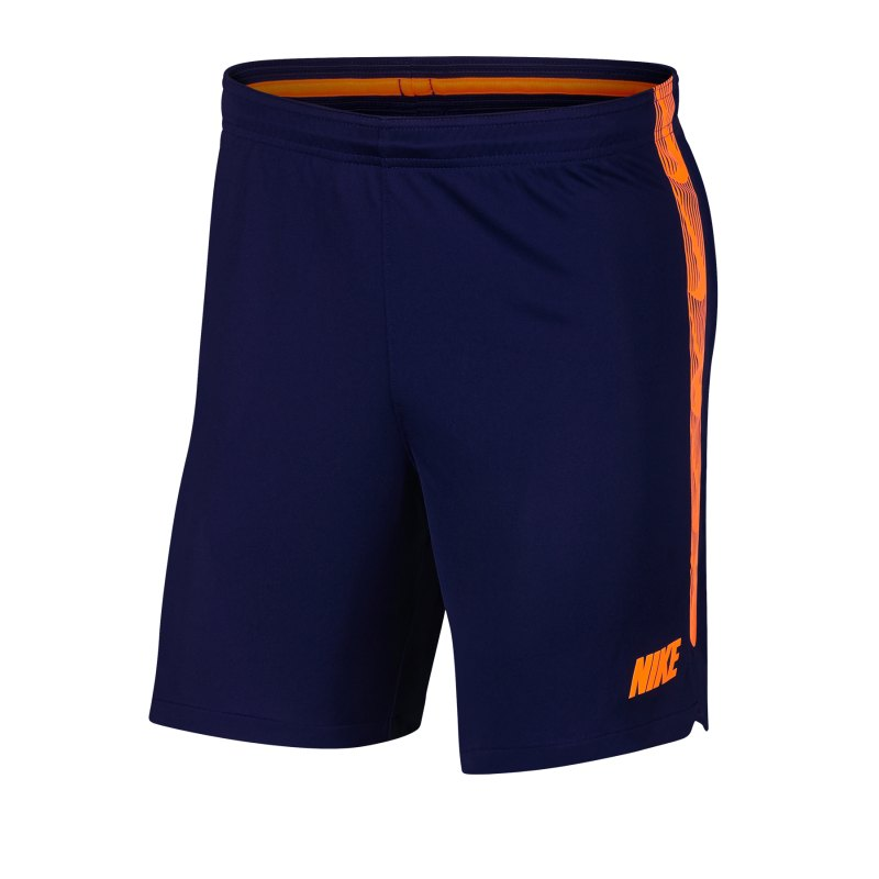Nike Dry Squad Knit Short Blau Orange F492 - Blau