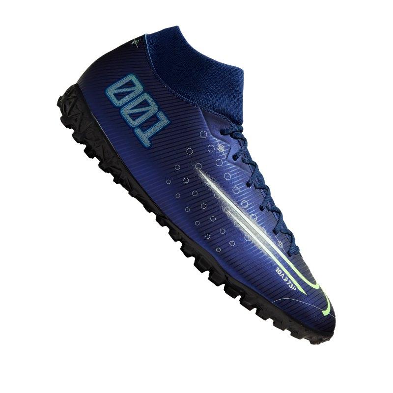 Nike Mercurial Superfly VII DS Academy TF Blau F401 - blau