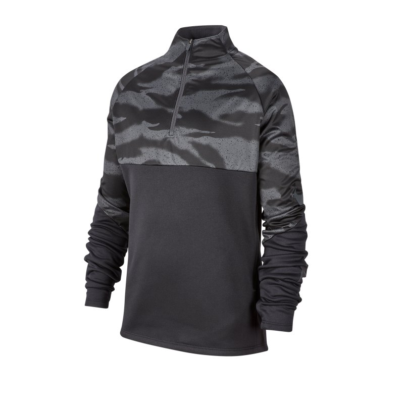 Nike Therma 1/4 Zip Sweatshirt Kids Schwarz F010 - schwarz
