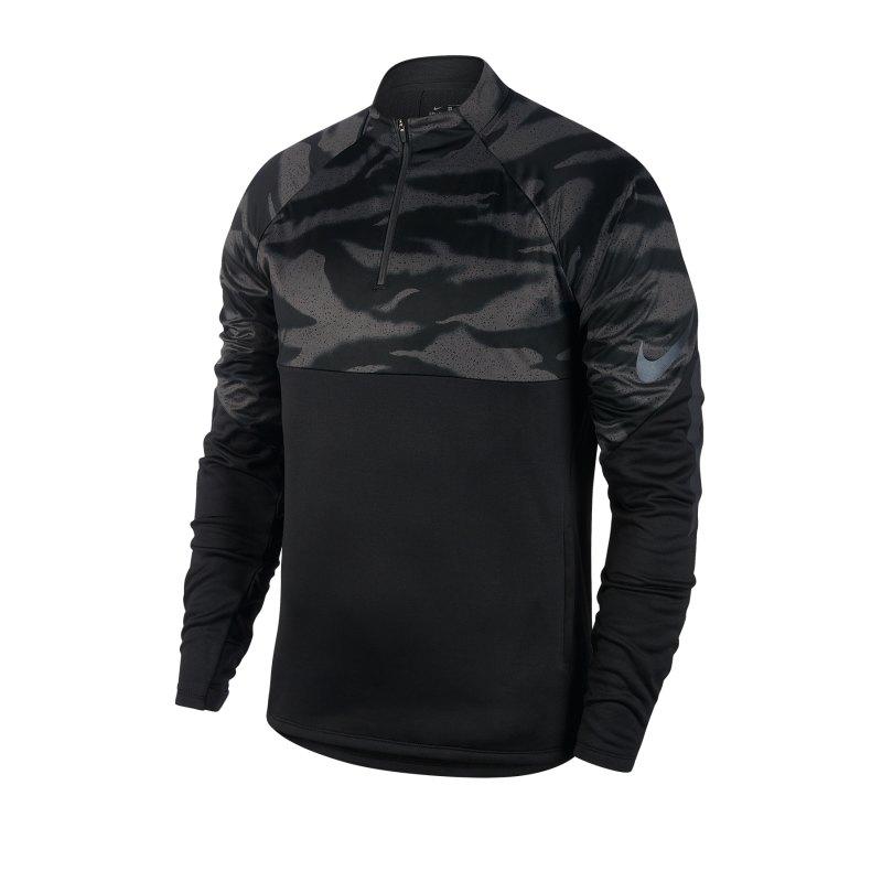 Nike Therma 1/4 Zip Trainingsweatshirt F010 - schwarz