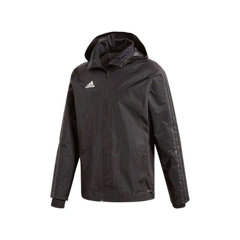 adidas Condivo 18 Storm Jacket Jacke Schwarz Weiss - schwarz