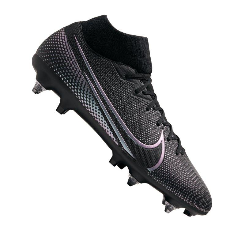 Nike Mercurial Superfly VII Kinetic Black Academy SG-Pro AC Schwarz F010 - schwarz