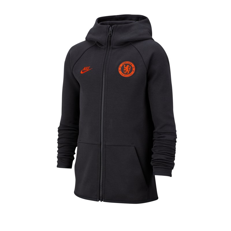 Nike FC Chelsea London Tech Kapuzenjacke Kids F060 - grau