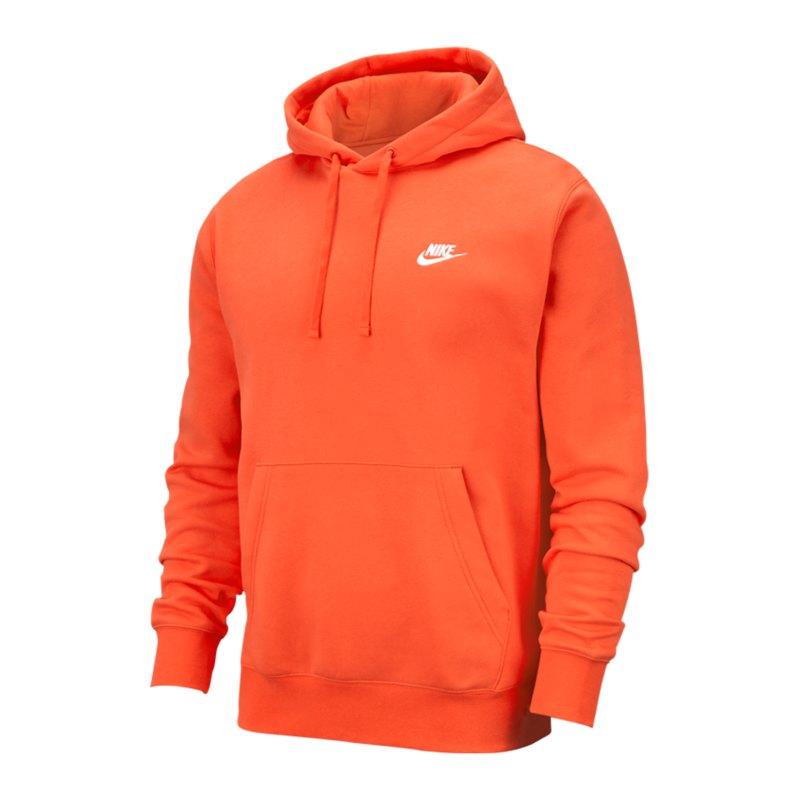 Nike Club Fleece Hoody Orange F837 - orange