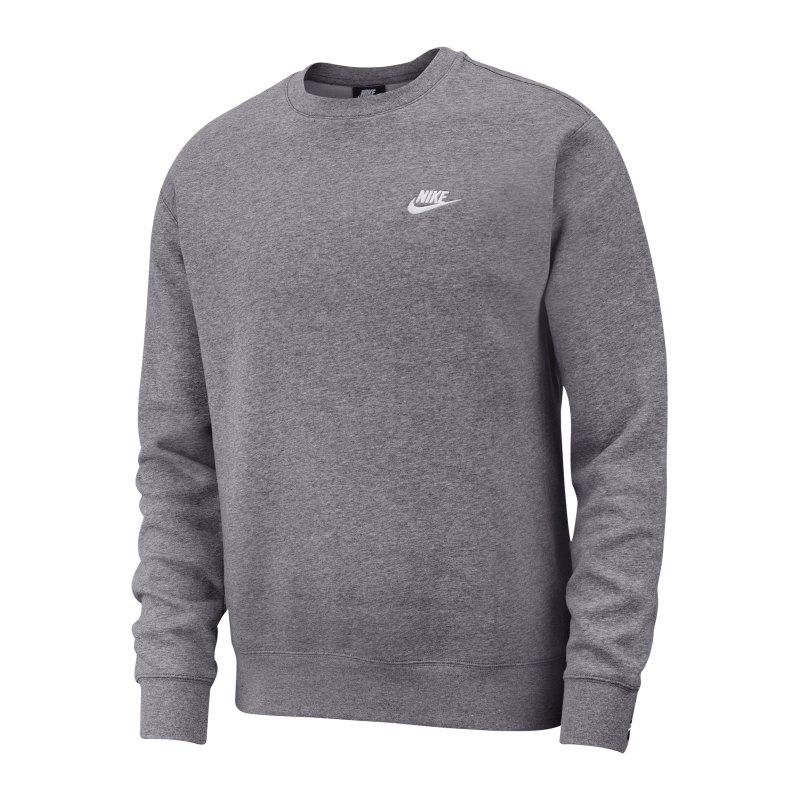 Nike Club Crew Sweatshirt Grau F071 - grau