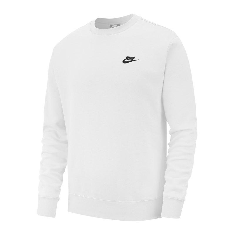 Nike Club Crew Sweatshirt Weiss F100 - weiss