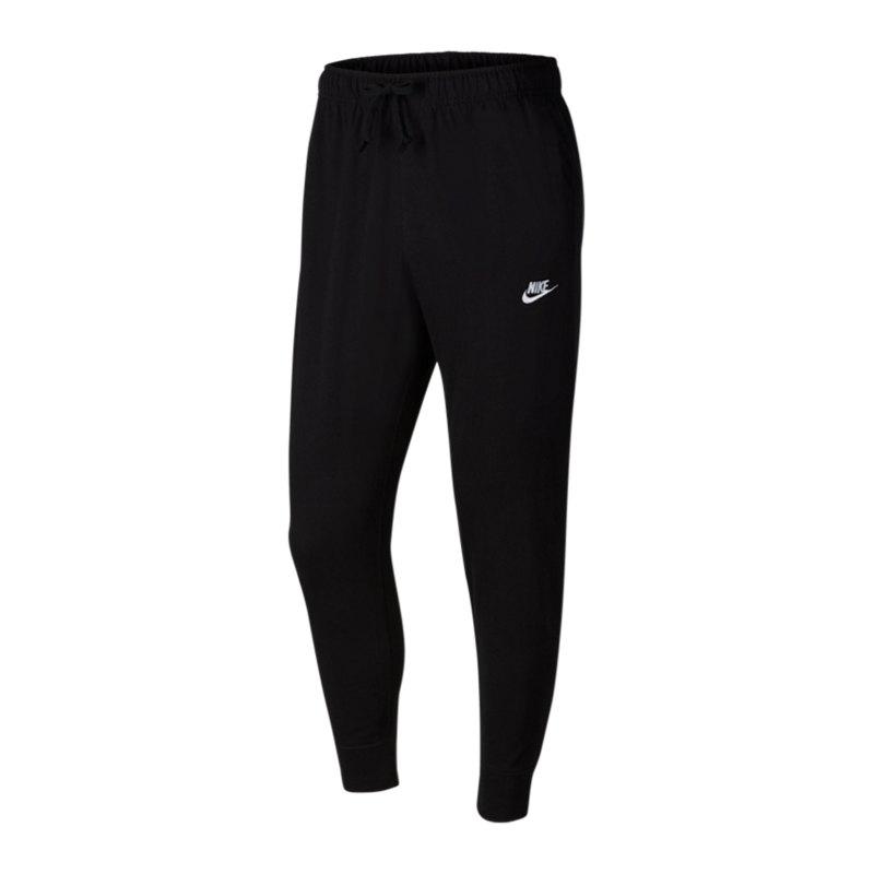 Nike Club Jogger Jersey Jogginghose Schwarz F010 - schwarz
