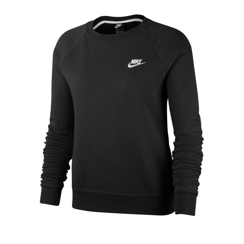 Nike Essential Fleece Pullover Damen Schwarz F010 - schwarz