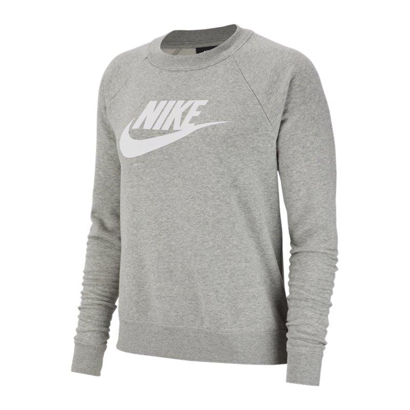 Nike Crew Fleece Sweatshirt Damen Grau F063 - grau