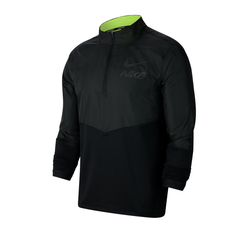 Nike Element 1/2 Zip Top Running langarm F070 - schwarz