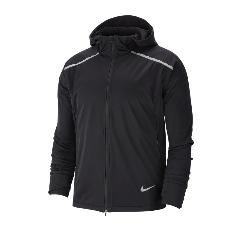 Nike Shield Warm Running Kapuzenjacke F010 - schwarz