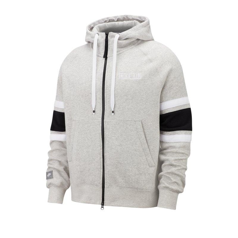 Nike Air Fleece Kapuzenjacke Grau F050 - grau
