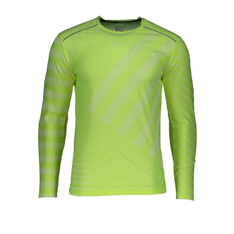 Nike Tech Knit Trainingsshirt langarm Gelb F702 - gelb