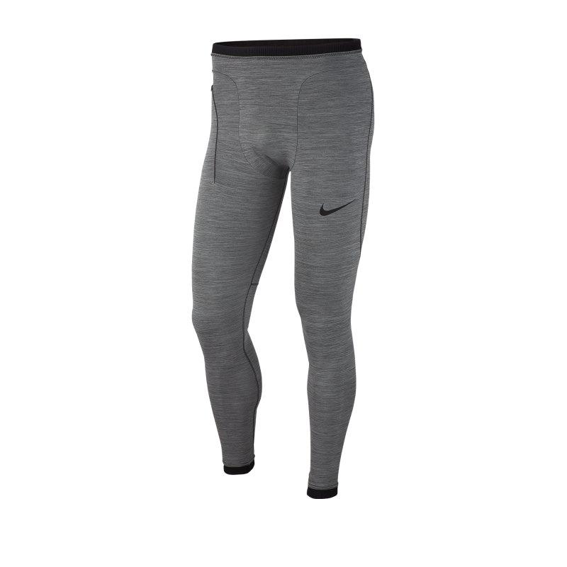 Nike Pro Tights lang Grau F071 - grau