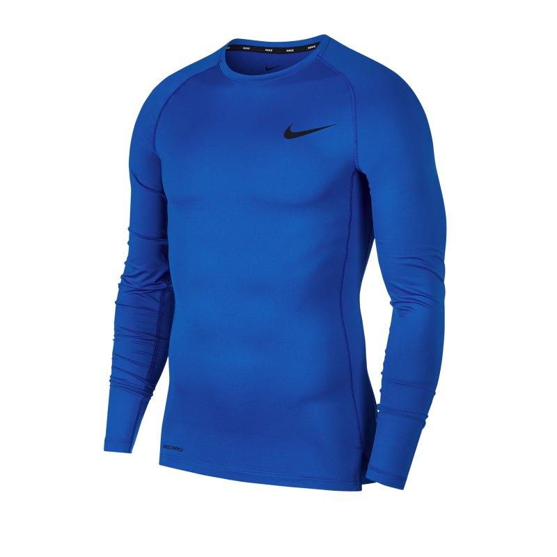 Nike Pro Langarmshirt Blau F480 - blau