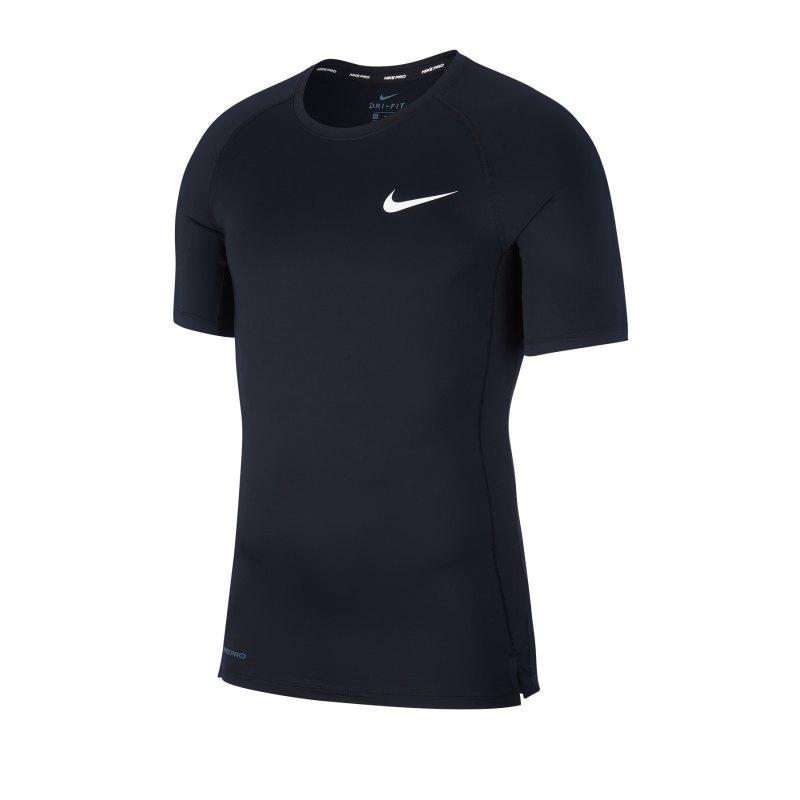 Nike Pro Trainingsshirt kurzarm Schwarz F010 - schwarz