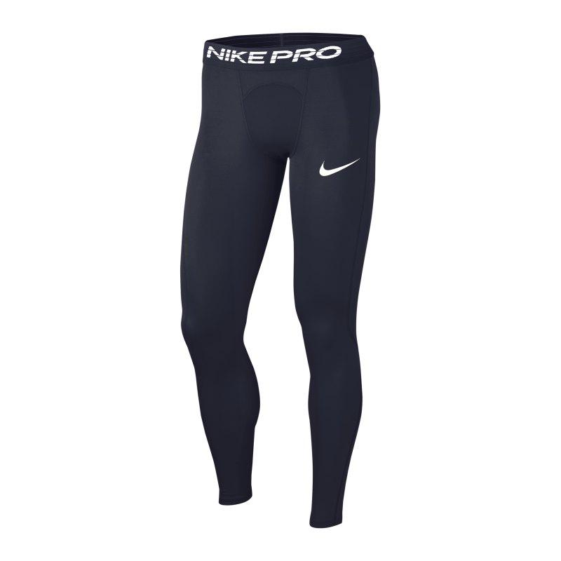 Nike Pro Tight lang Blau F452 - blau