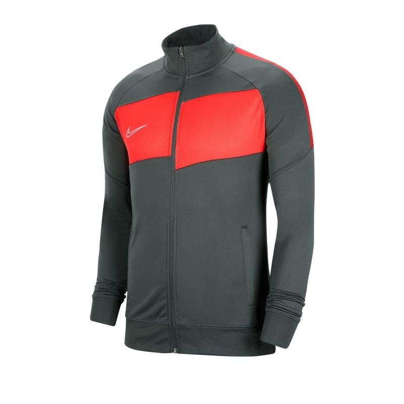 Nike Academy Pro Trainingsjacke Grau Rot F068 - grau