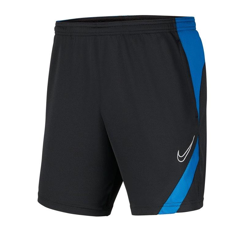Nike Academy Pro Short Grau Blau F069 - schwarz