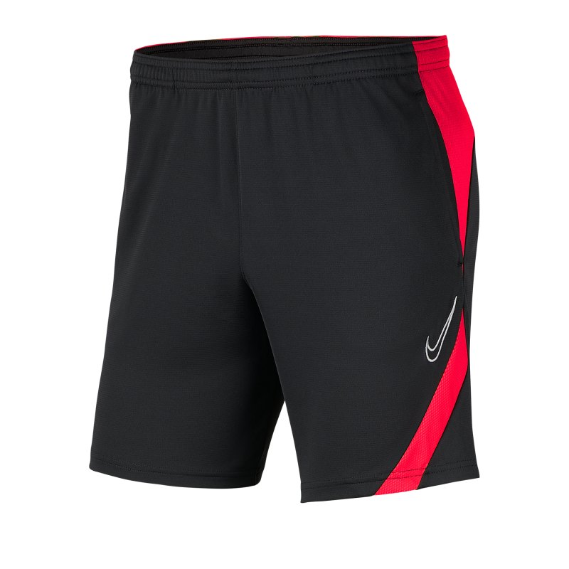 Nike Academy Pro Short Grau Rot F067 - schwarz