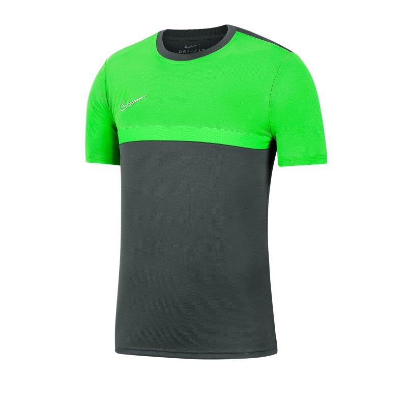 Nike Academy Pro T-Shirt Grau Grün F074 - grau