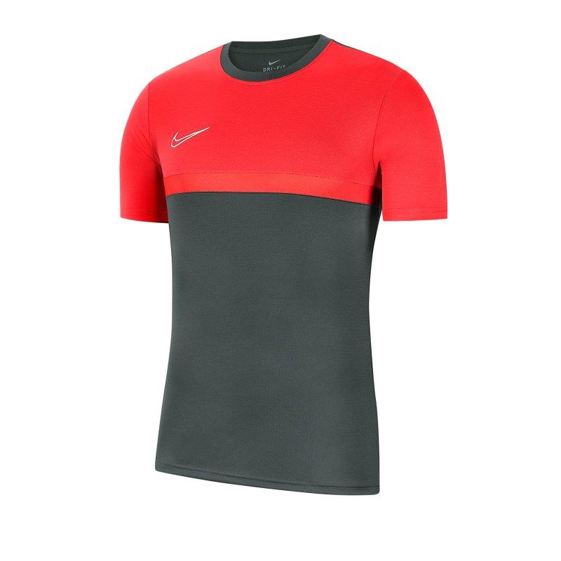 Nike Academy Pro T-Shirt Grau Rot F079 - grau
