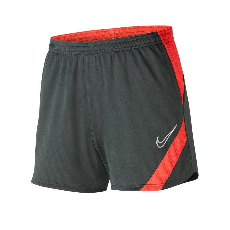 Nike Academy Pro Short Damen Grau Rot F068 - grau