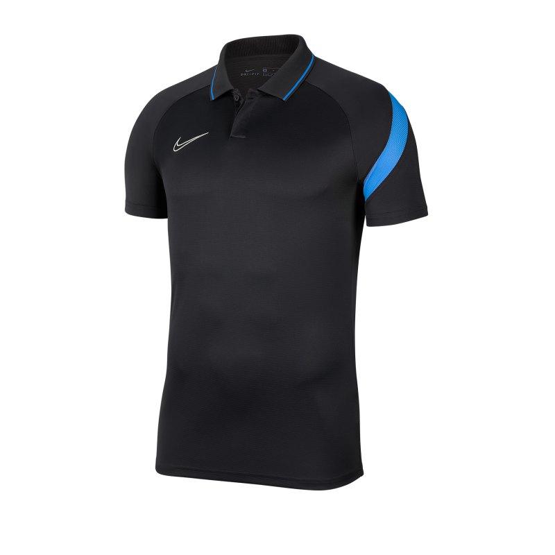 Nike Academy Pro Poloshirt Kids Grau Blau F067 - grau