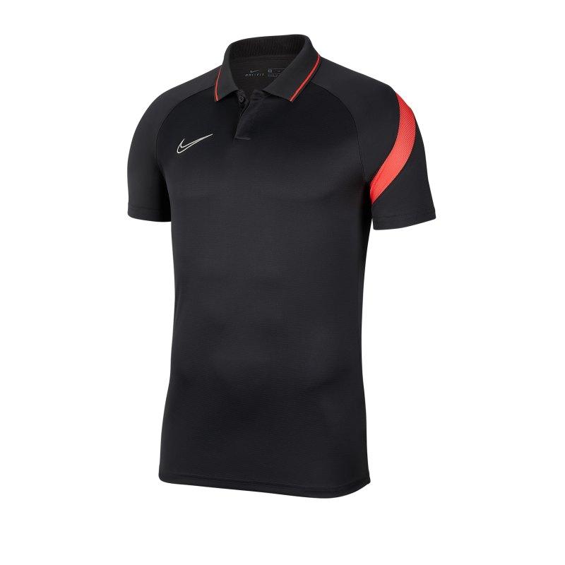 Nike Academy Pro Poloshirt Kids Grau Orange F069 - grau