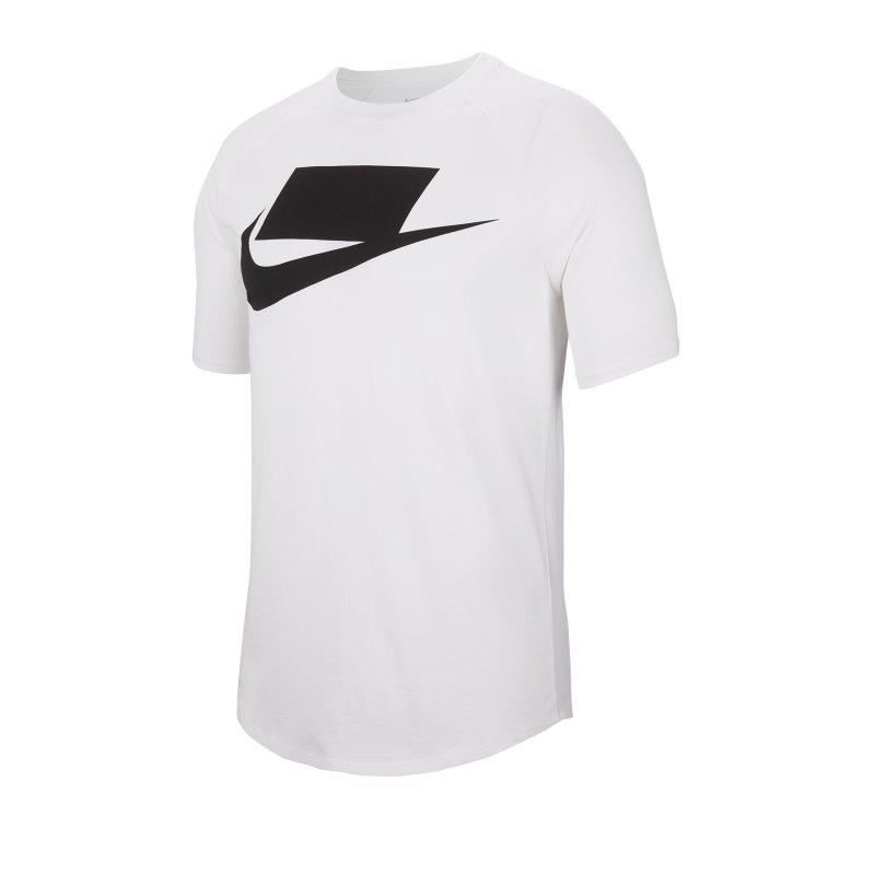 Nike Short Sleeve Tee T-Shirt Weiss F101 - weiss