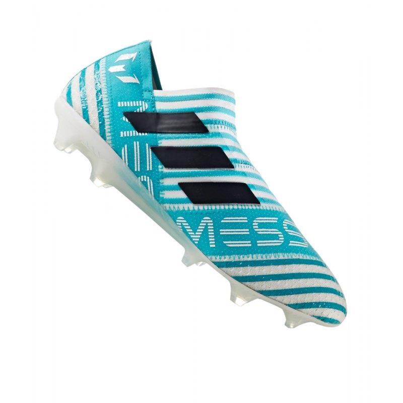 adidas FG NEMEZIZ 17+ 360Agility Weiss Blau - weiss