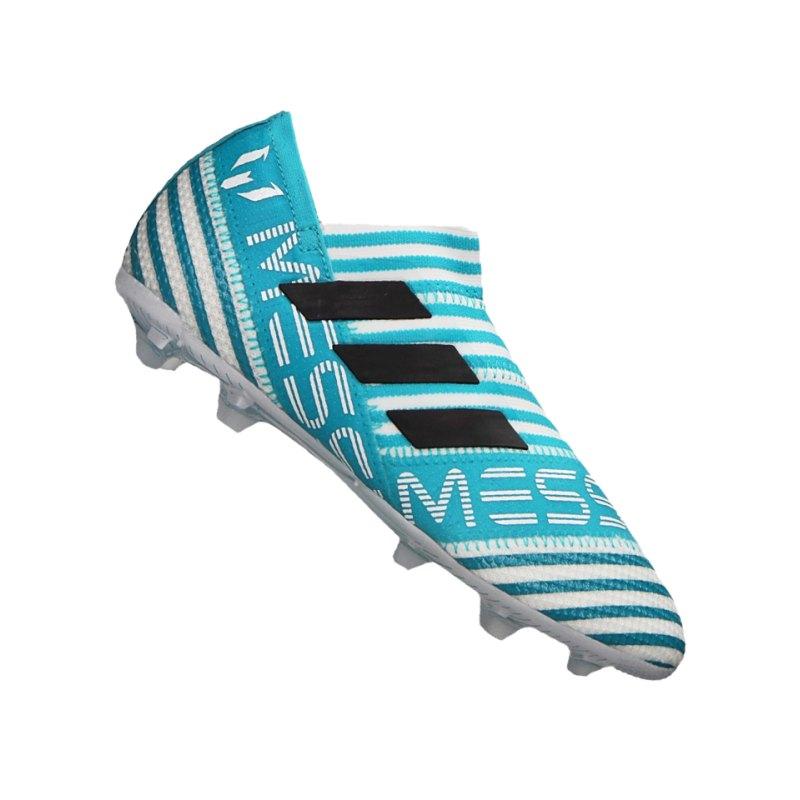 adidas FG NEMEZIZ 17+ 360Agility Kids Weiss Blau - weiss