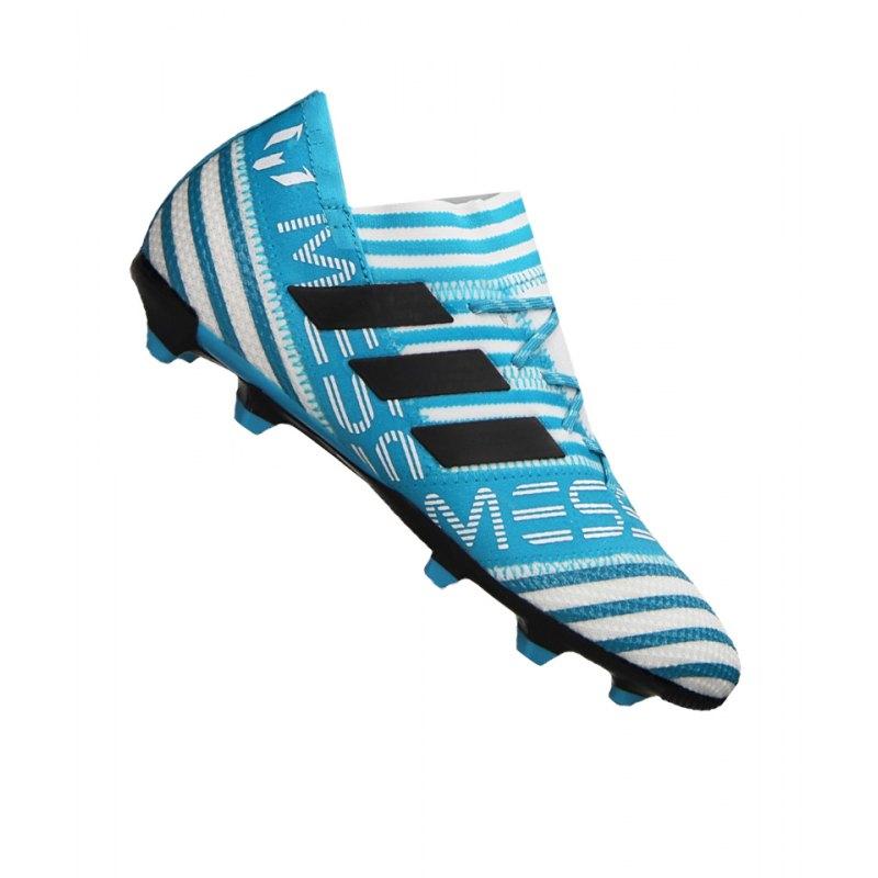 adidas FG NEMEZIZ 17.1 J Kinder Weiss Blau - weiss