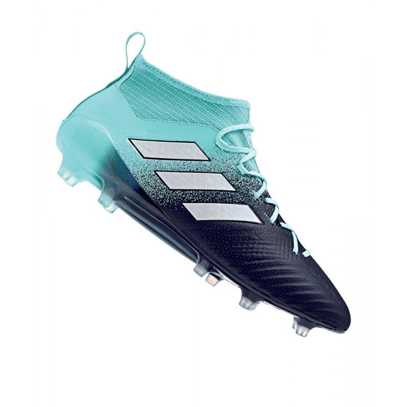adidas FG ACE 17.1 Primeknit Blau Weiss - blau