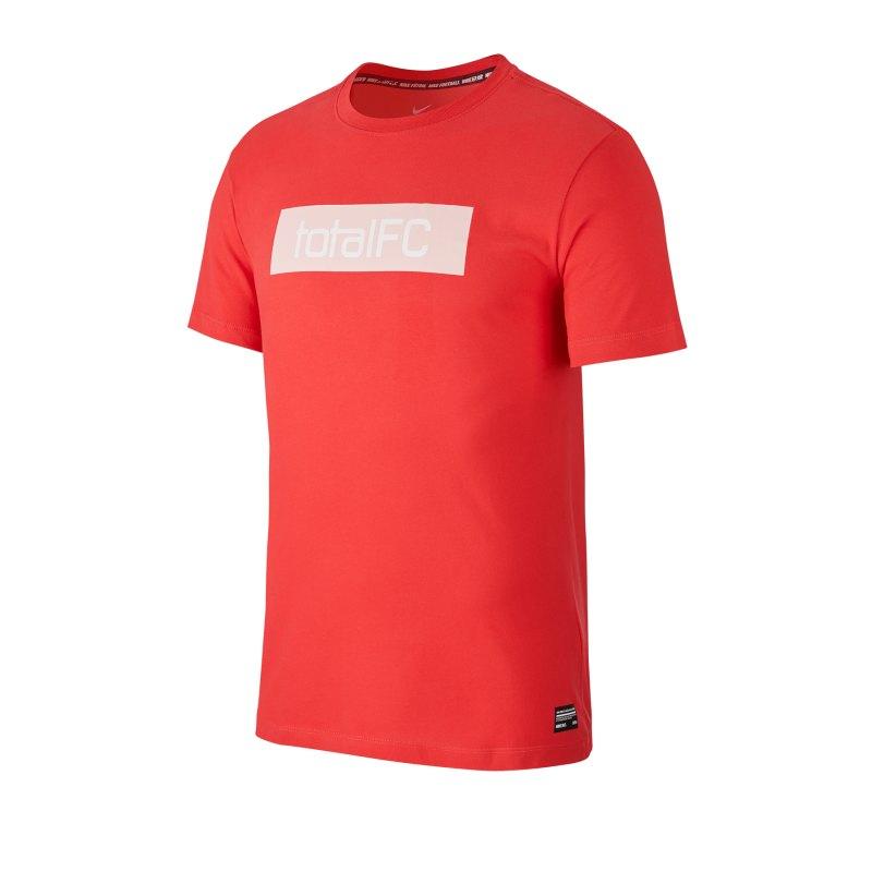Nike F.C. Dri-FIT Trainingshirt kurzarm Rot F631 - rot