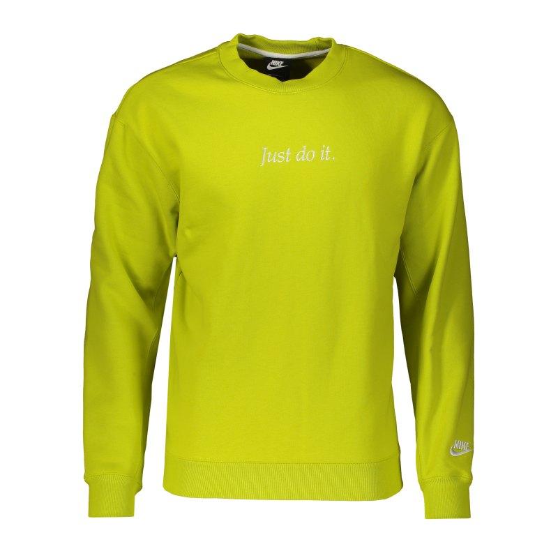Nike JDI Fleece Sweatshirt Grün F308 - gruen
