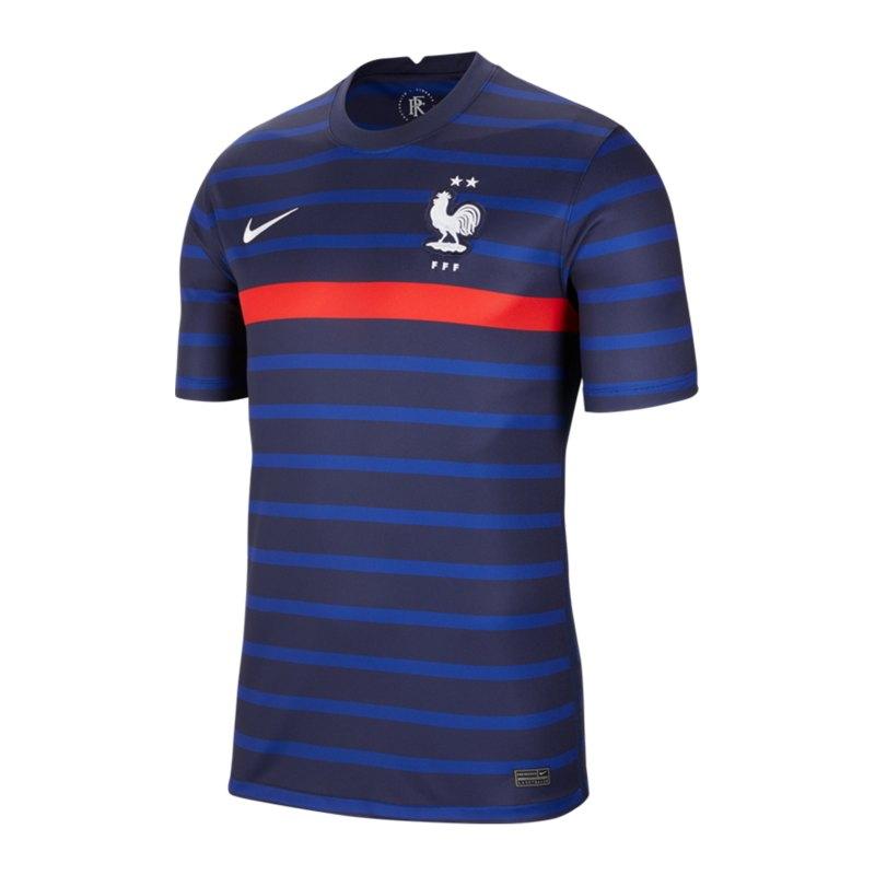 Nike Frankreich Trikot Home EM 2021 Blau F498 - blau