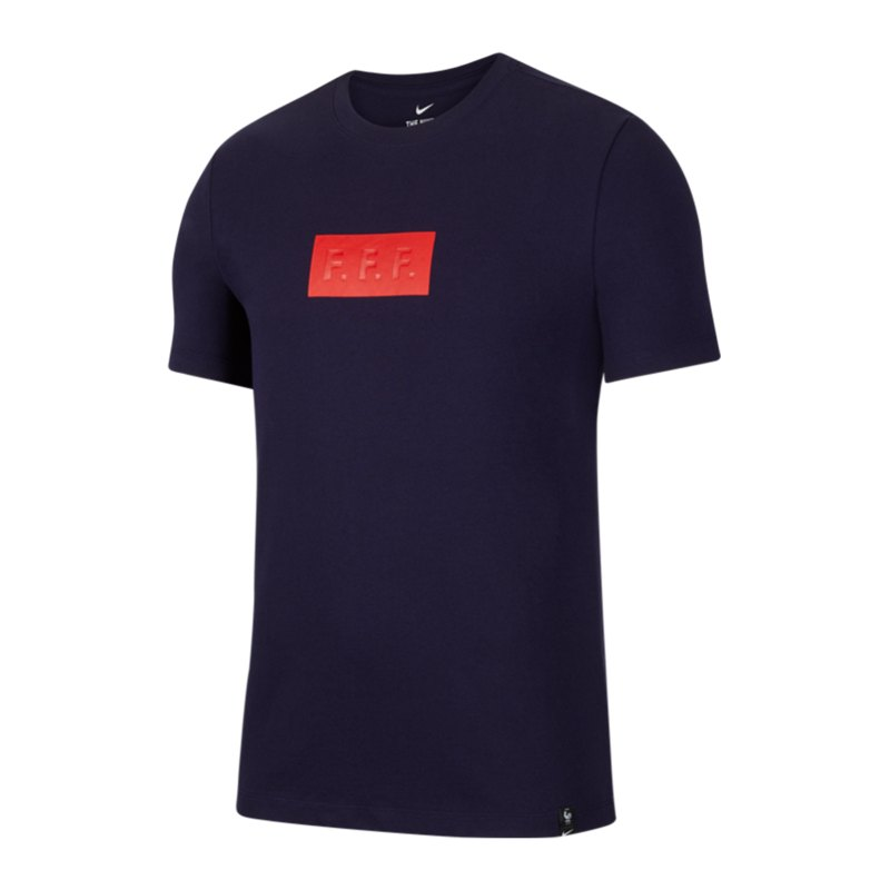 Nike Frankreich Travel Tee T-Shirt Blau F498 - blau