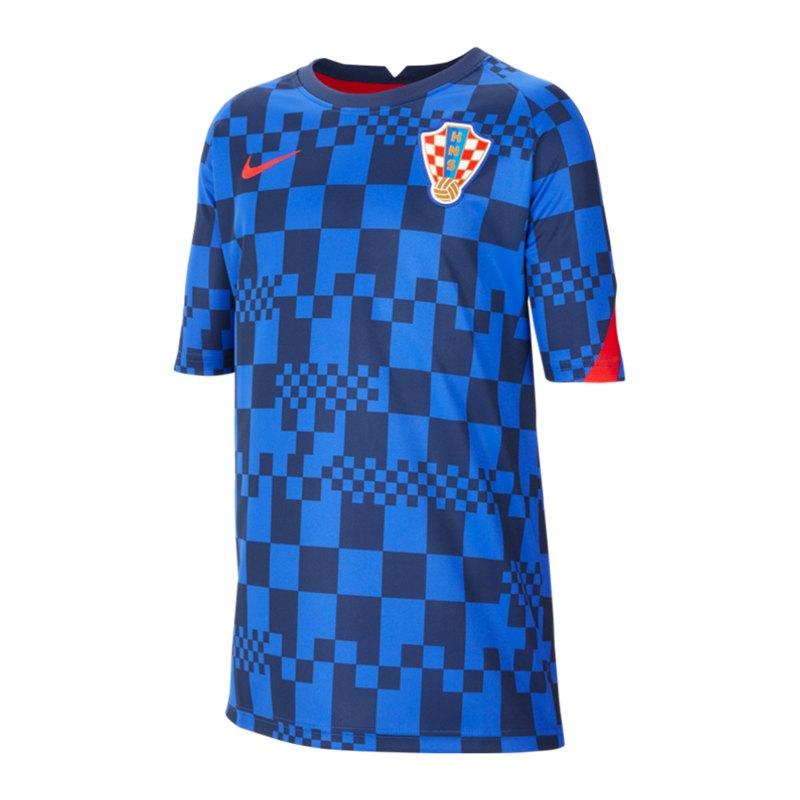 Nike Kroatien Trainingstop kurzarm Kids Blau F452 - blau