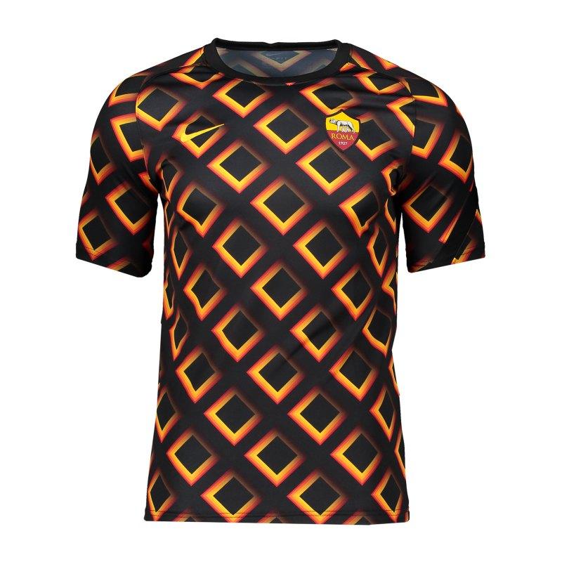 Nike AS Rom Top T-Shirt Kids Schwarz F010 - schwarz