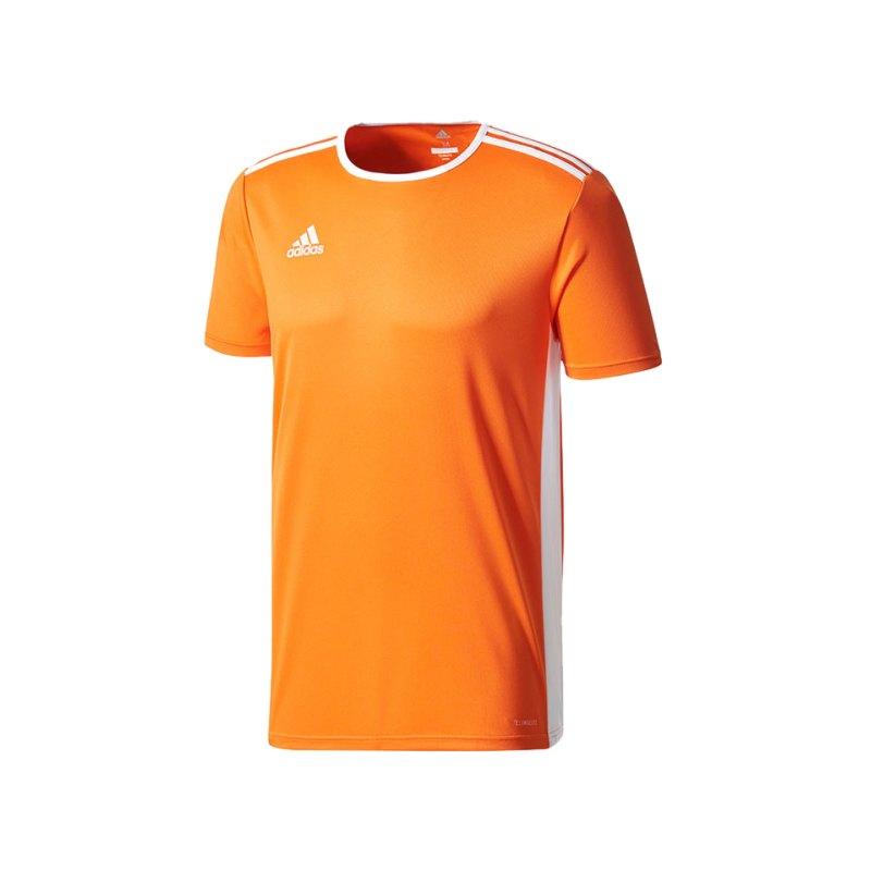 adidas Entrada 18 Trikot kurzarm Orange Weiss - orange