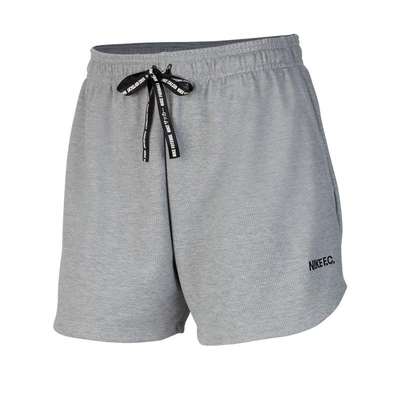 Nike F.C. Soccer Short Damen Schwarz F065 - grau