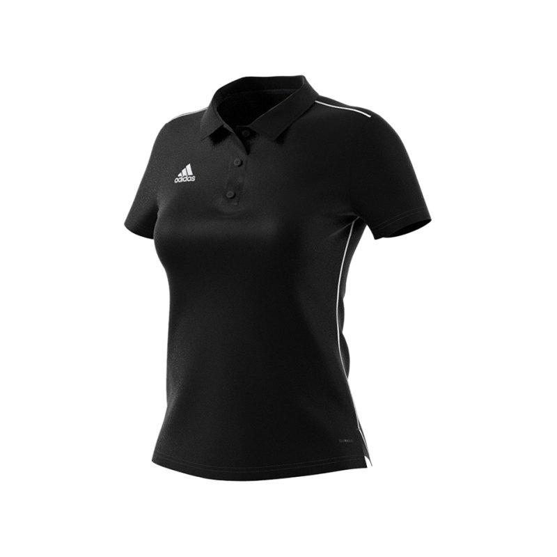 adidas Core 18 Poloshirt Damen Schwarz Weiss - schwarz