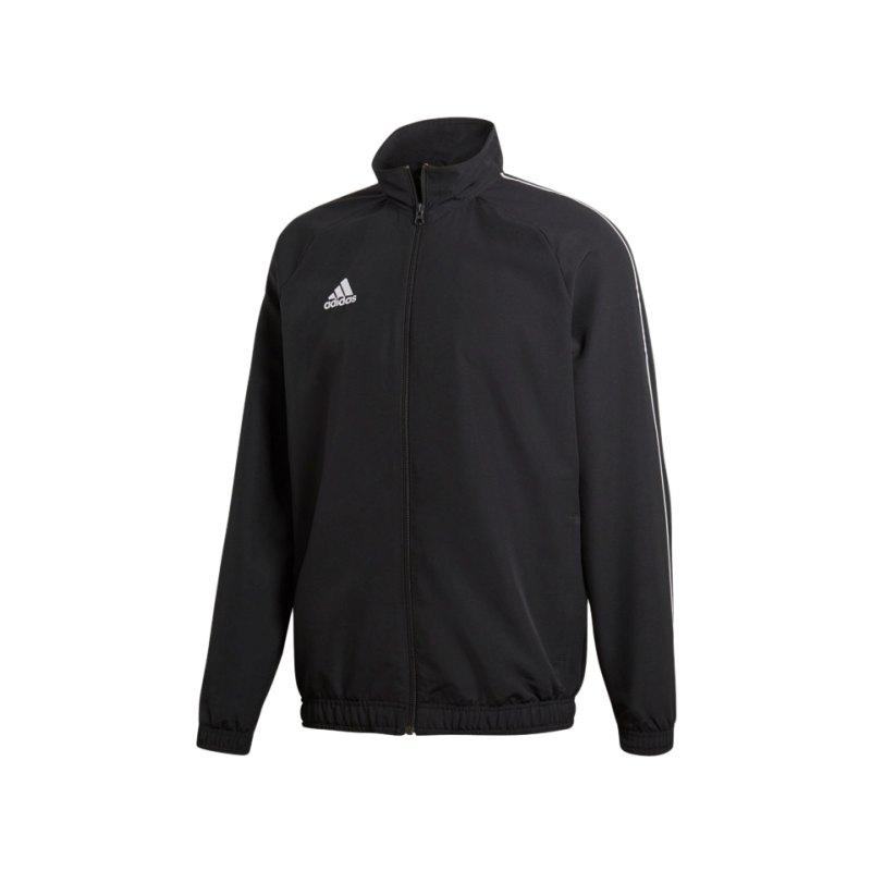 adidas Core 18 Präsentationsjacke Schwarz Weiss - schwarz