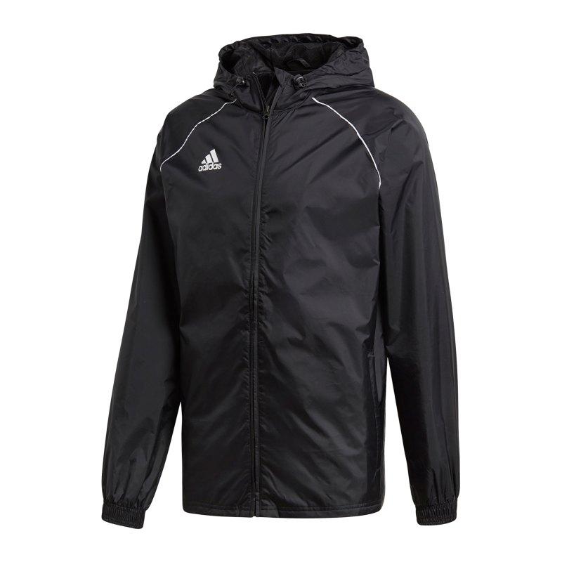 adidas Core 18 Rain Jacket Jacke Schwarz Weiss - schwarz