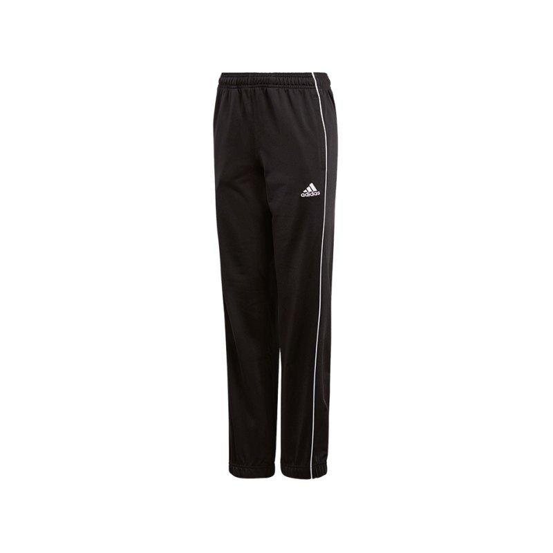 adidas Core 18 Polyesterhose Kids Schwarz Weiss - schwarz